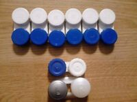 6 New Matching Blue and White Contact Lens Cases+GET 2 FREE CASES!