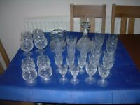 ASSORTED CUT GLASS