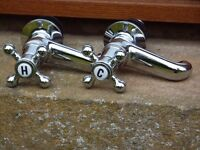 New victorian cross hot and cold taps