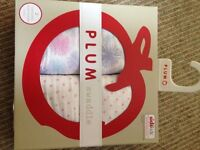 BNIB girl muslins by PLUM (Australian designer) - ideal present for newborn!!