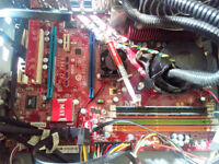 RARE ACER PREDATOR G7700 WATER COOLING,GRAPHIC CARD, AMD PHENOM QUAD CORE 4GB FIXED PRICE PART EX OK