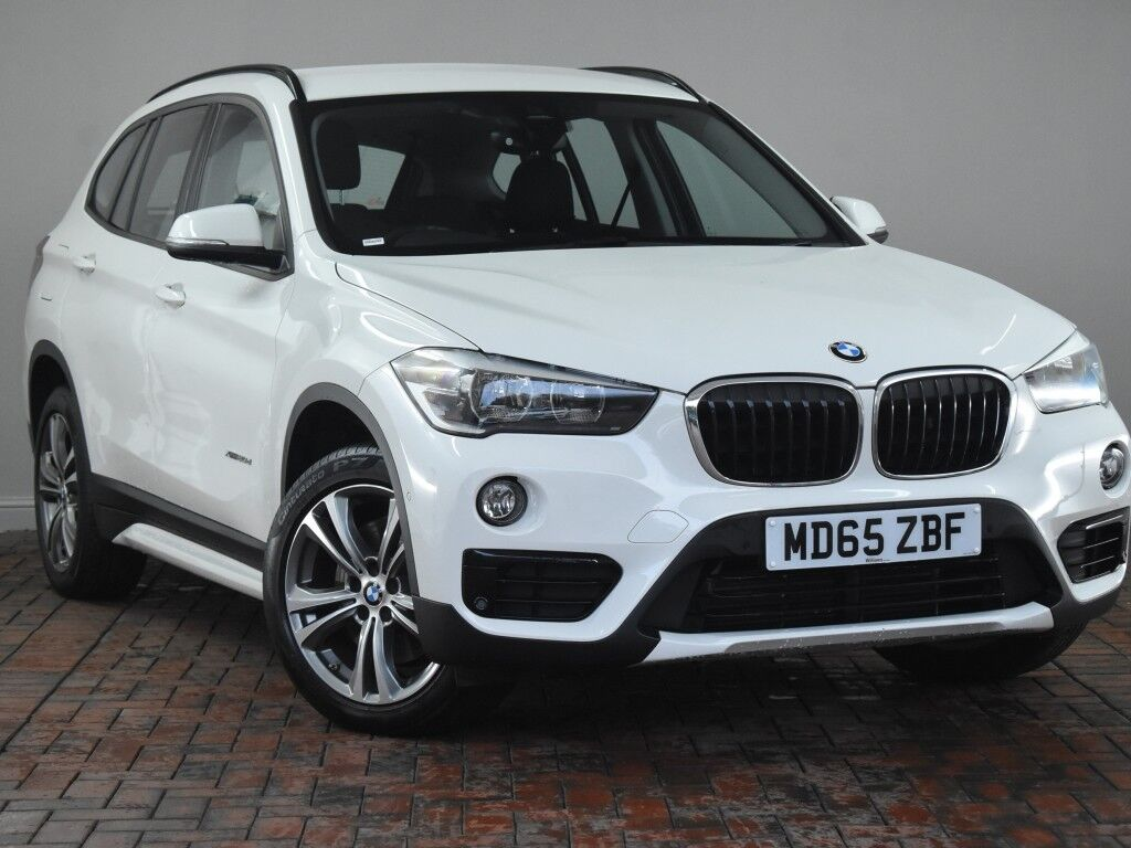 bmw x1 xdrive 20d sport 5dr step auto white 2015 in. Black Bedroom Furniture Sets. Home Design Ideas