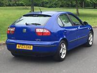 2003 SEAT LEON 1.9 TDI DRIVES LOVELY LAST OWNER 8 YEARS GOLF A3 LEON ASTRA