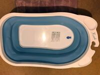 Babyway Baby Bath tubs Karibu Foldable Bath & Angelcare Soft Touch Bath Support Blue