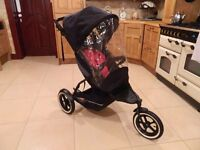Phil & Teds Professional Stroller With Rain-Cover (Joggers Delight)