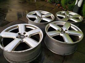 4 X Audi RS4 style, 19' alloys wheels, replica, 8X19,5X112, used