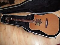 Takamine EN10C made in Japan electro acoustic guitar with hard case