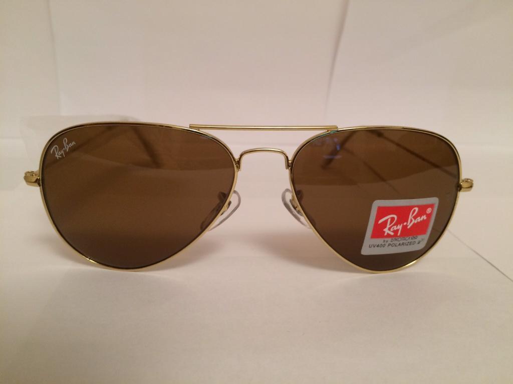 RayBan Aviator Sunglasses RB3025 (gold/brown lens)