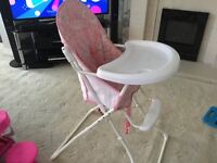 Pink red kite highchair