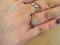 Fraser Hart Cluster Diamond Engagement Ring
