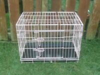 DOG CAGE MEDIUM WITH TRAY IN PINK £25