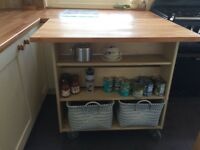 Kitchen island unit, big working space also giving extra storage in a smaller kitchen