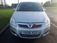 Vauxhall zafira 7 seater 2008 reg (px welcome)