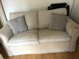 Cream sofa two seater