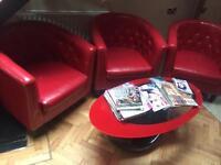 Salon tube chairs