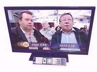 "LOGIK 24"" LED TV, USB BUILT IN DVD PLAYER"