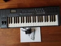 M Audio Axiom 49 Keyboard - Great Condition with gig bag and stand