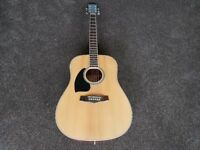 Left Handed Ibanez Acoustic Guitar PF15L. Nice Condition - New Strings