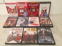 Bundle of 11 DVDs for sale.