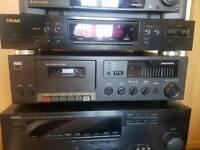 Yamaha Amplifier, Teac Digital Tuner and Nad Cassette Deck.