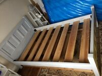 3/4 grey bed frame