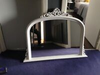 Large Beautiful ornate mirror with contemporary twist good condition