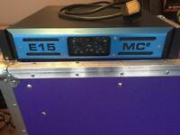 MC2 E15 E-SERIES, 2 CHANNEL AMPLIFIER 8OHMS - 450W PER CHANNEL