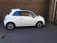 2012 Fiat 500 1.2 lounge,A/C,stop/start,low miles,11 month MOT