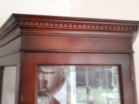 Mahogany Corner Display Cabinet
