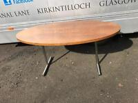 Vintage crome and rosewood effect dining table
