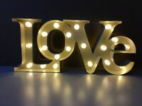 Decorative LOVE light sign lamp LED - display cosy mood romantic lighting