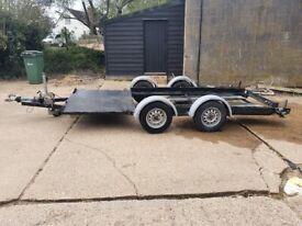 Homemade Twin Axle 14ftx5.5ft Car Trailer