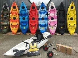 single sit on top kayak 9 colours available from Cambridge Kayaks