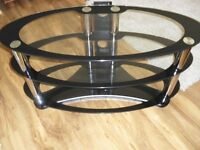 Glass Oval Tv Unit Stand