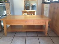 Light Oak Coffee Table (Furniture Village)