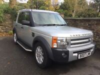 Landrover Discovery 3 2007 genuine low mileage model with main dealer full service history