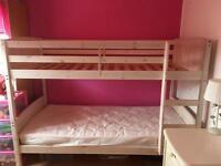 Light Oak Wash Bunk Bed