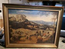 "Pieter Bruegel's framed print ""The Hay Harvest"""