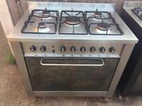 Range cooker gas and electric ovens 90cm indesit