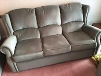 3 Seater sofa with two arm chairs