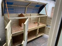 Hand built Rabbit/Guinea Pig double tier hutch (6'x2')
