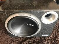 REDUCED 12 inch vibe sub with amp - 1600 watts