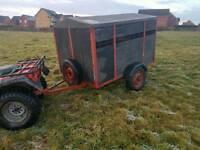 6x4 livestock trailer rear loading ramp rear lights ready for the road