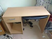 Pc desk with keyboard drawer, drawer and shelf