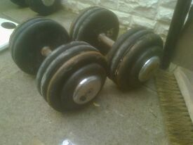 35kg fixed dumbells