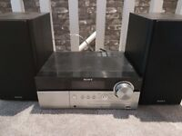 Sony cd player with speakers and remote