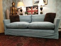 Sofa(dot)com 3 seater sofa in brushed linen cotton fabric