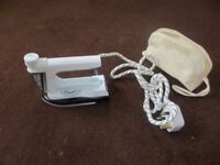 Useful travel Iron - steam or smooth - in canvas travel bag