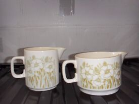 Hornsea Pottery Fleur jugs x 2