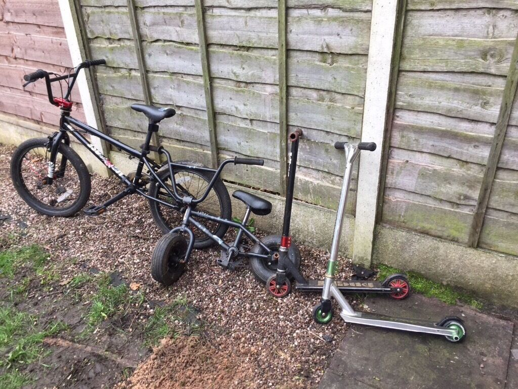 Mini Rocker Bike Mongoose Bmx And 2 Stunt Scooters In Eccles